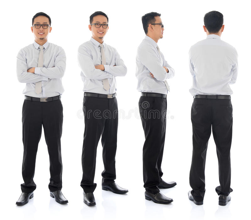 Azjatycka samiec w różnym kącie zdjęcia stock