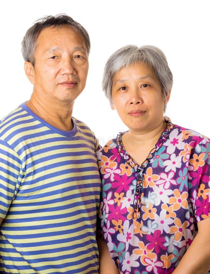 Azjatycka starszej osoby para fotografia royalty free