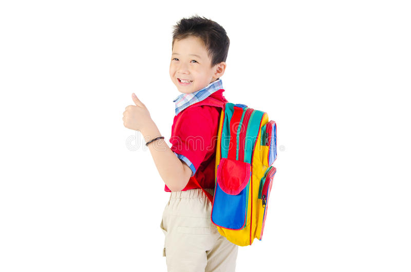 Azjatycka szkolna chłopiec obraz stock