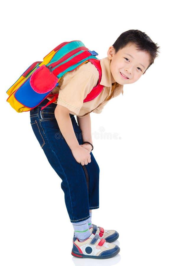 Azjatycka szkolna chłopiec obrazy stock
