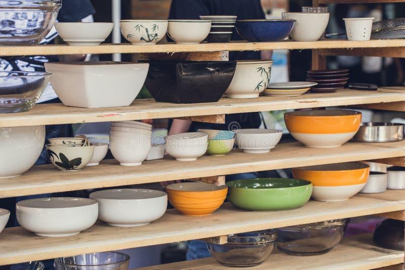 Azjatycka sztuka pucharu kolekcja, różnorodny typ rozmiar i styl, zdjęcia stock
