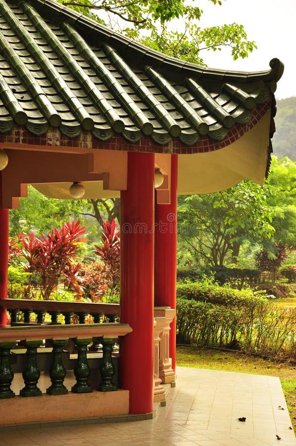 Azjatycka tradycyjna dachowa architektura zdjęcia royalty free