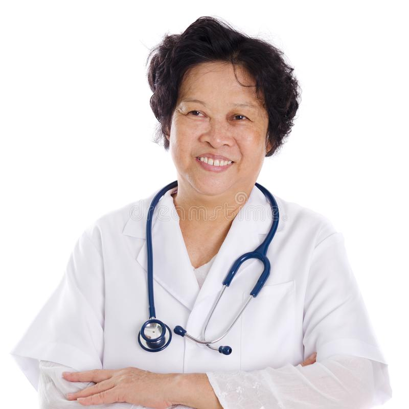 Azjatycki żeński lekarz medycyny obrazy royalty free