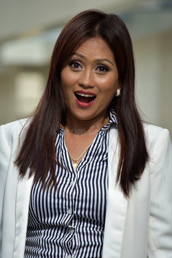Azjatycki Biznesowej kobiety Opowiadać zdjęcia royalty free