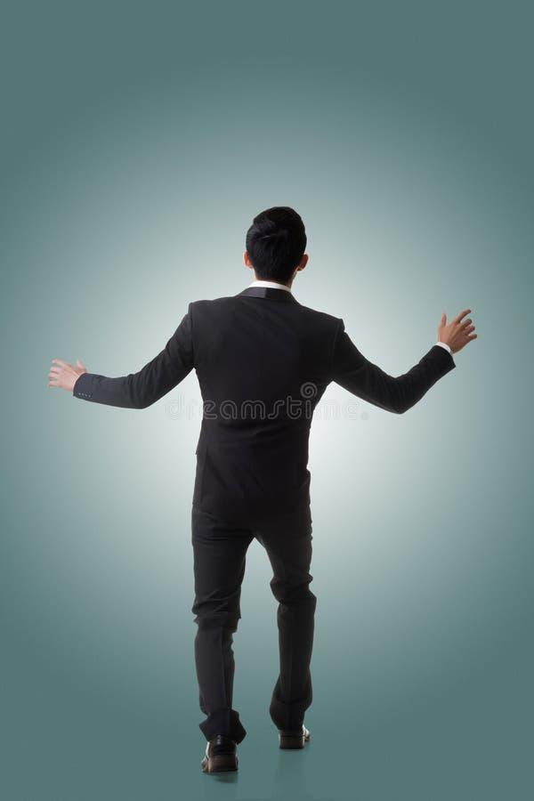Azjatycki biznesowy mężczyzna zaskakujący fotografia stock