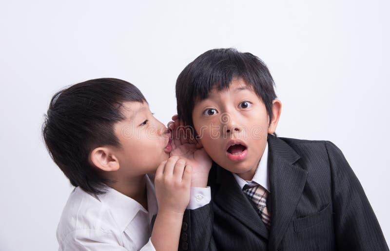 Azjatycki chłopiec personelu szef zdjęcia stock