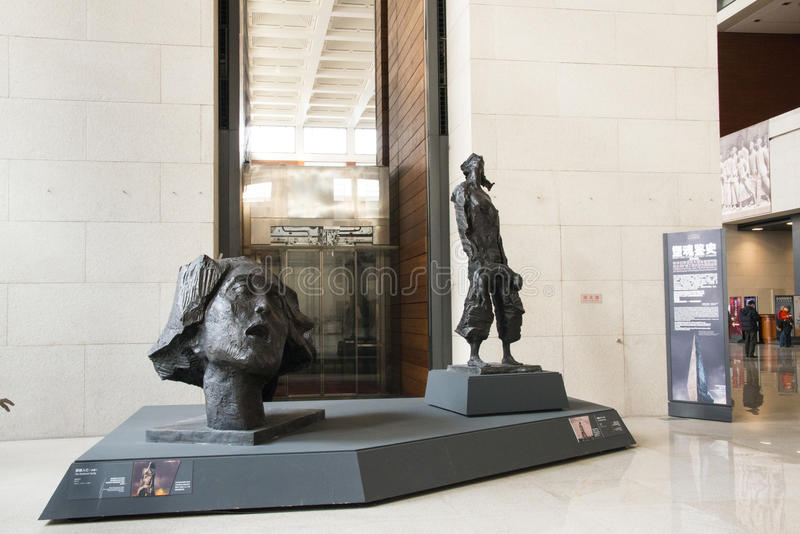 Azjatycki chińczyk, Pekin, muzeum narodowe, temat rzeźba obraz royalty free