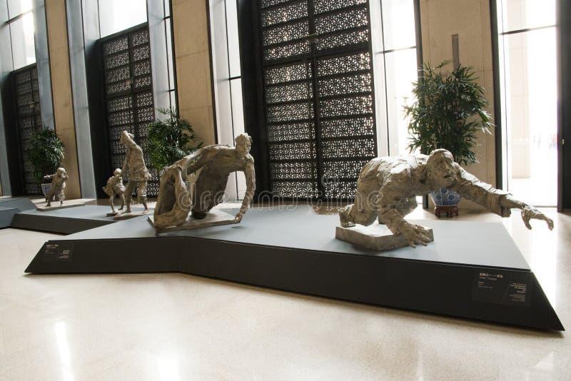 Azjatycki chińczyk, Pekin, muzeum narodowe, temat rzeźba zdjęcie stock