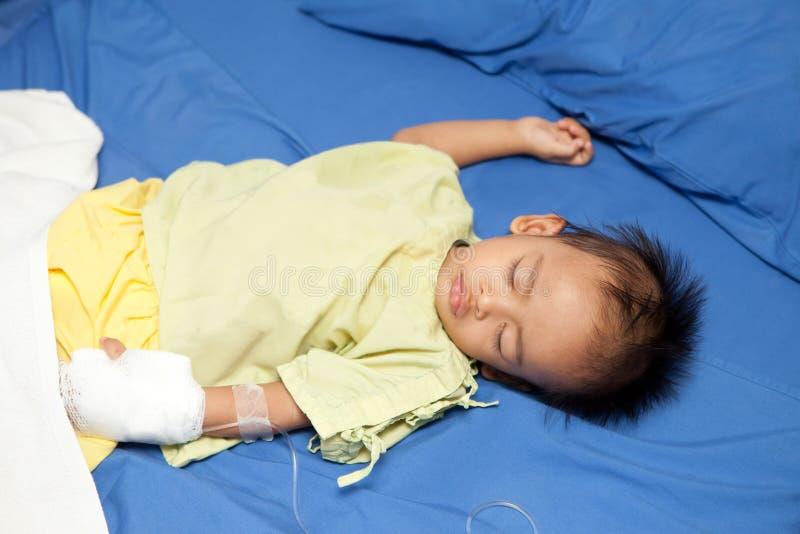 Azjatycki dziecko bolączki pacjent zdjęcie royalty free
