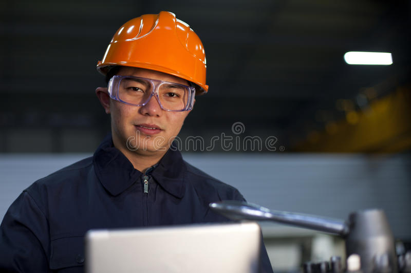 Azjatycki inżynier zdjęcie stock