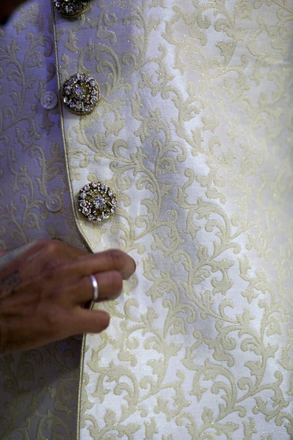 Azjatycki Indiański Hinduski Muzułmański Tradycyjny Ślubny Sherwani zdjęcia stock