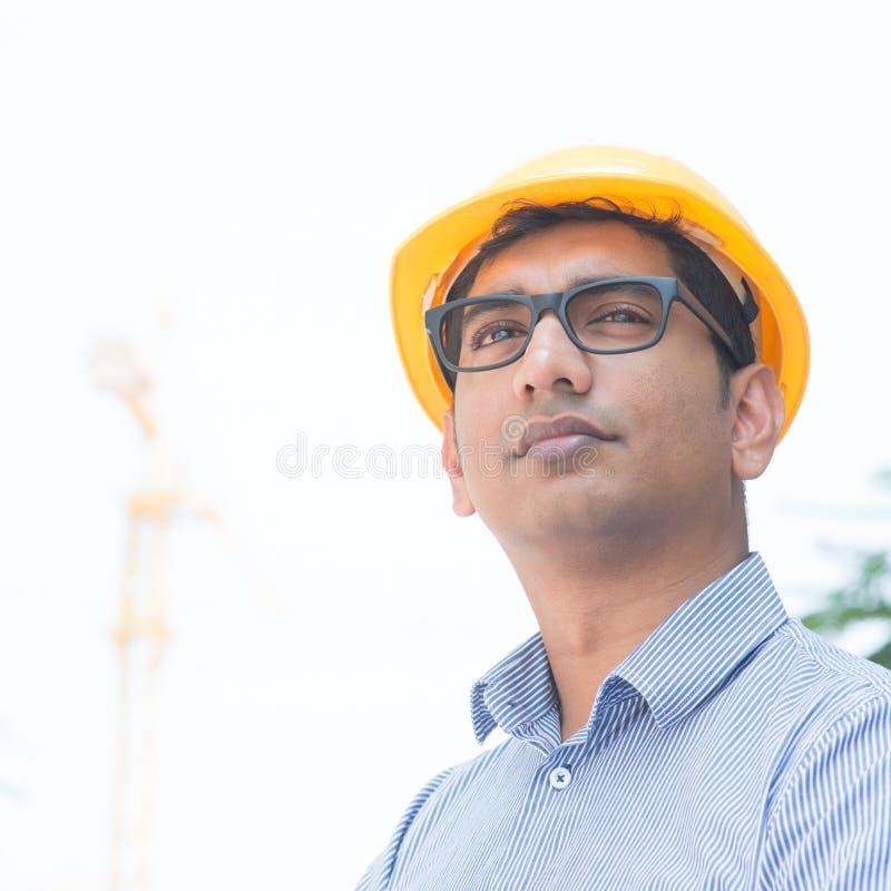 Azjatycki Indiański inżyniera portret obraz stock