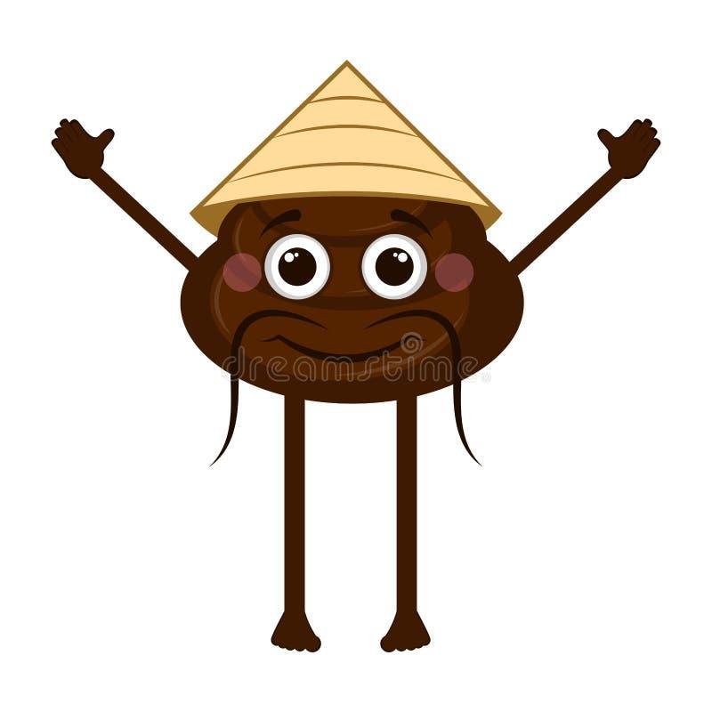 Azjatycki kaku emoji royalty ilustracja