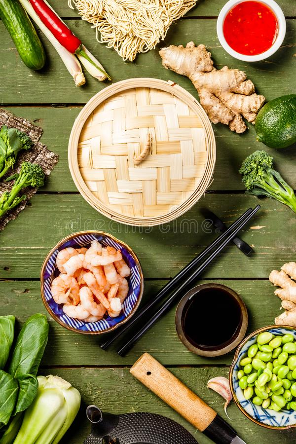 Azjatycki karmowy tło obrazy stock