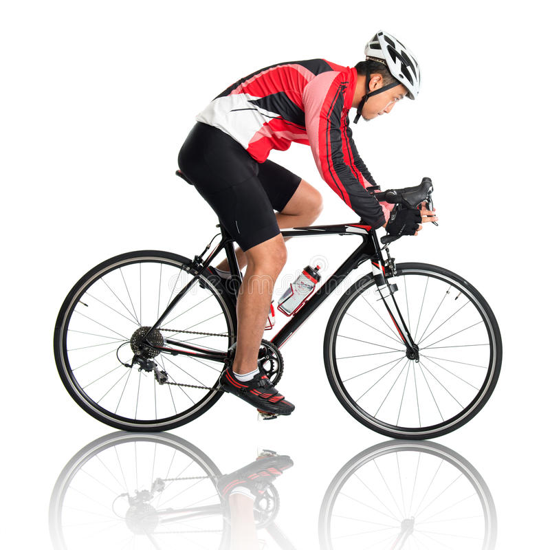 Azjatycki męski cyklista obrazy stock