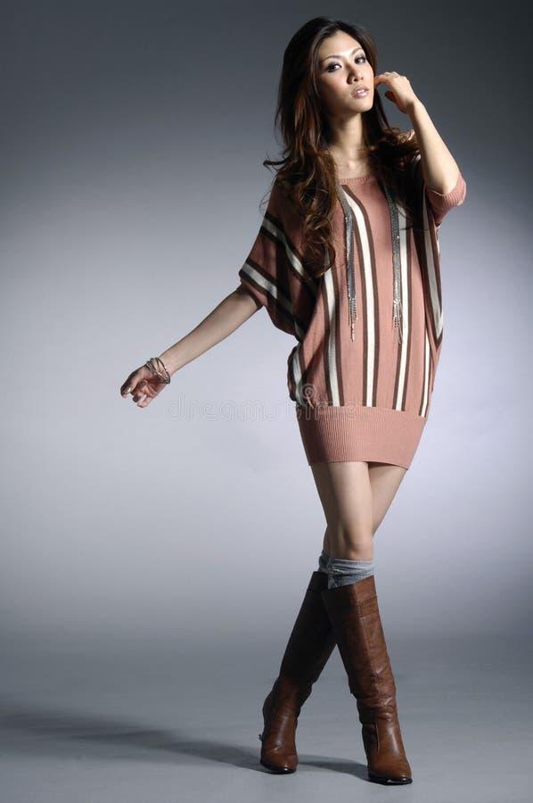 Azjatycki moda model zdjęcia stock