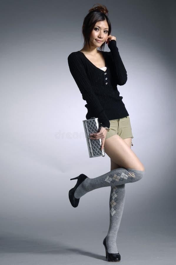 Azjatycki moda model zdjęcie royalty free
