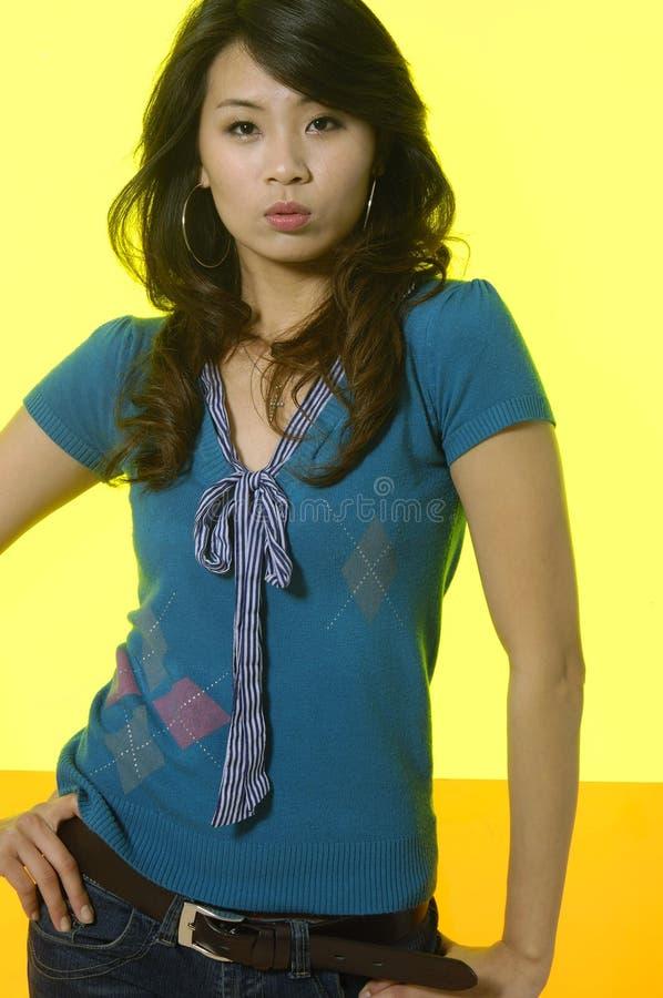 Azjatycki moda model zdjęcia royalty free