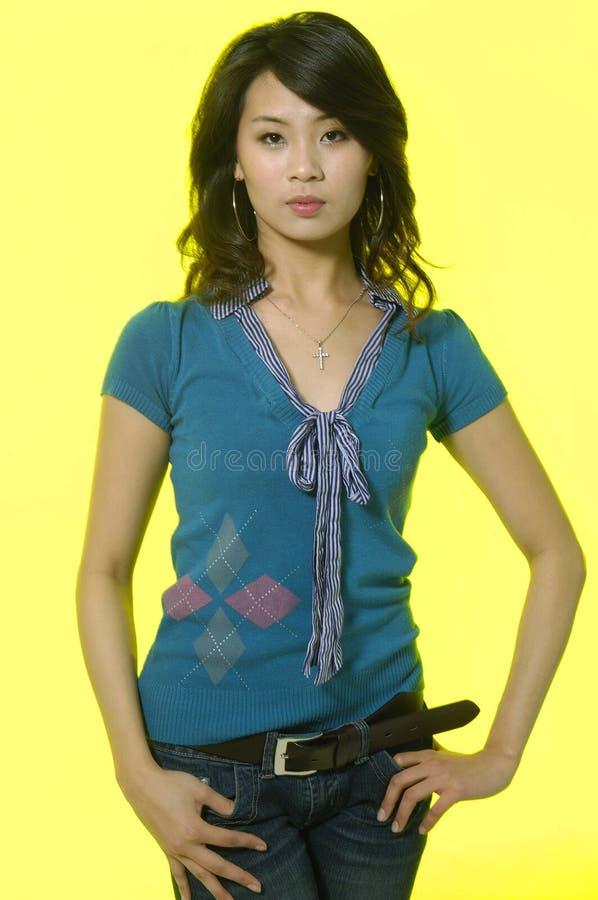 Azjatycki moda model fotografia royalty free