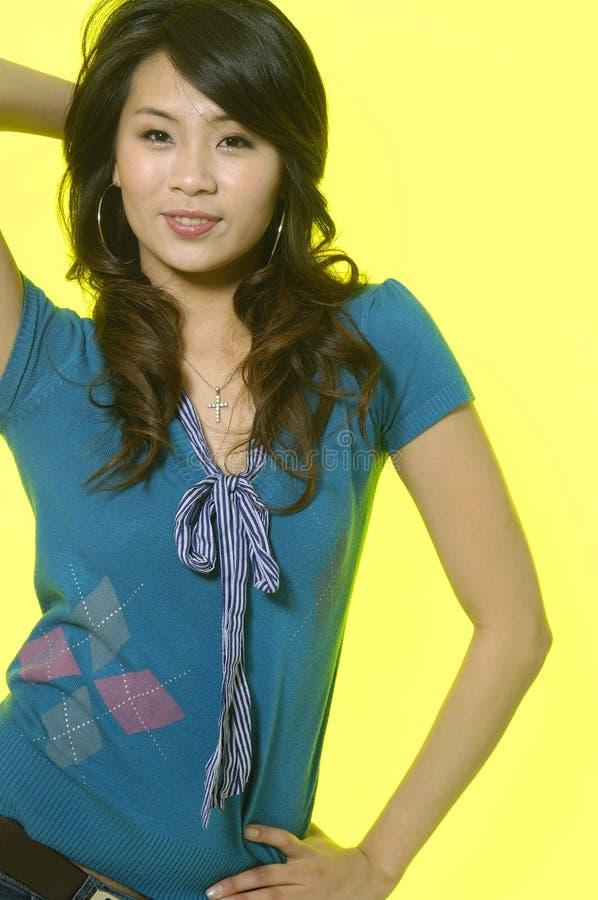 Azjatycki moda model zdjęcie stock