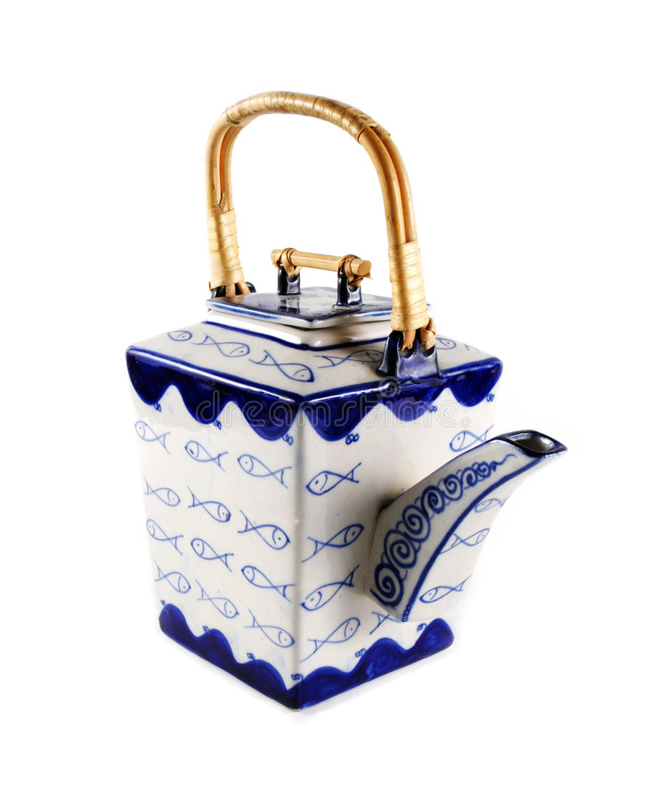 azjatycki styl teapot fotografia royalty free
