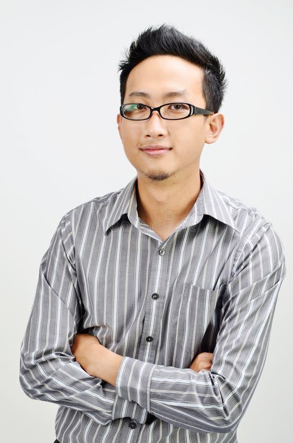 Azjatyckie biznesmen ręki krzyżować zdjęcia stock