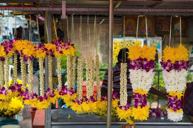 Azjatyckie kwiatu przygotowania girlandy Malezja zdjęcie stock