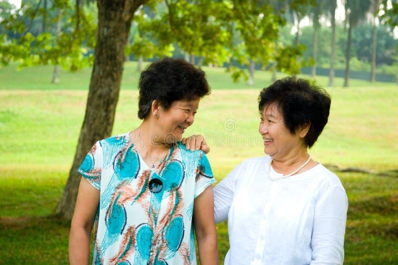 Azjatyckie starsze kobiety obraz royalty free