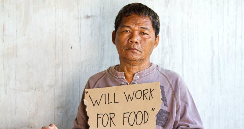 azjatykci bezdomny mężczyzna zdjęcie royalty free