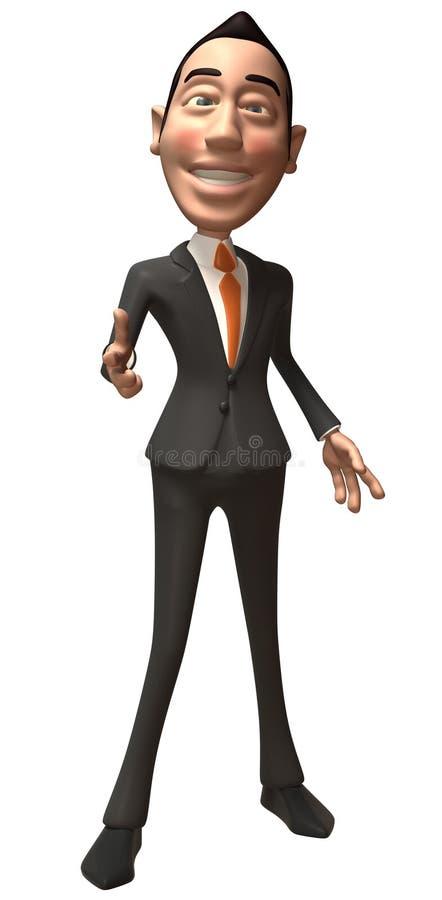 azjatykci biznesmen royalty ilustracja