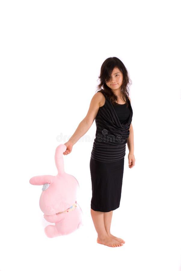 azjatykci czarny odosobniony spódnicowy nastolatek zdjęcia stock