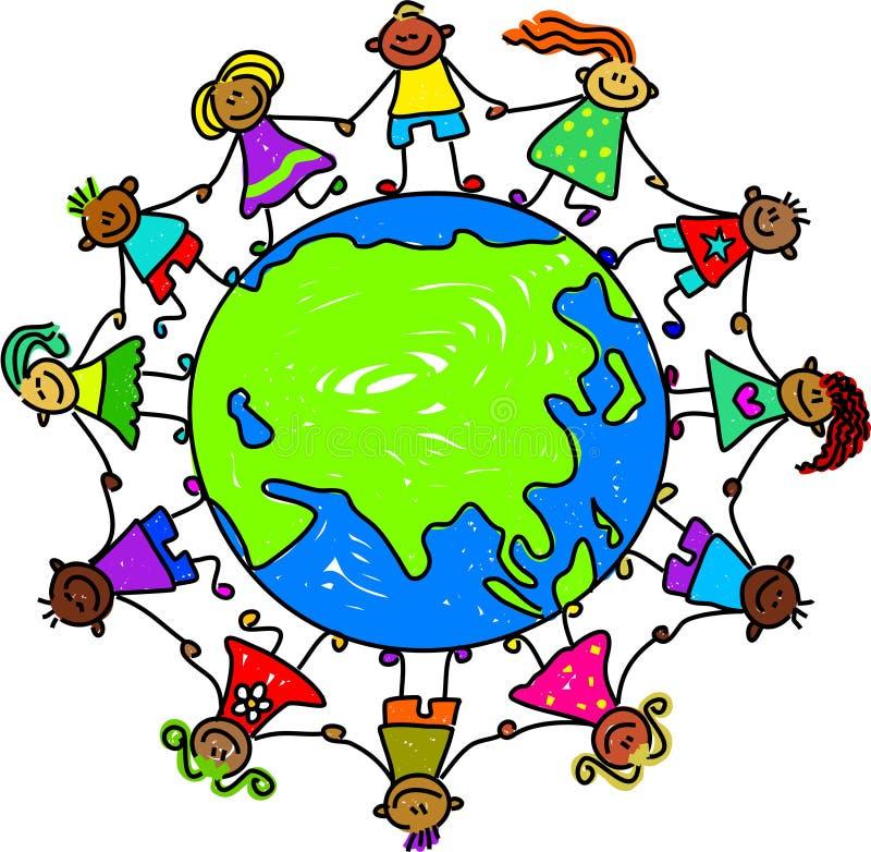 azjatykci dzieci ilustracji