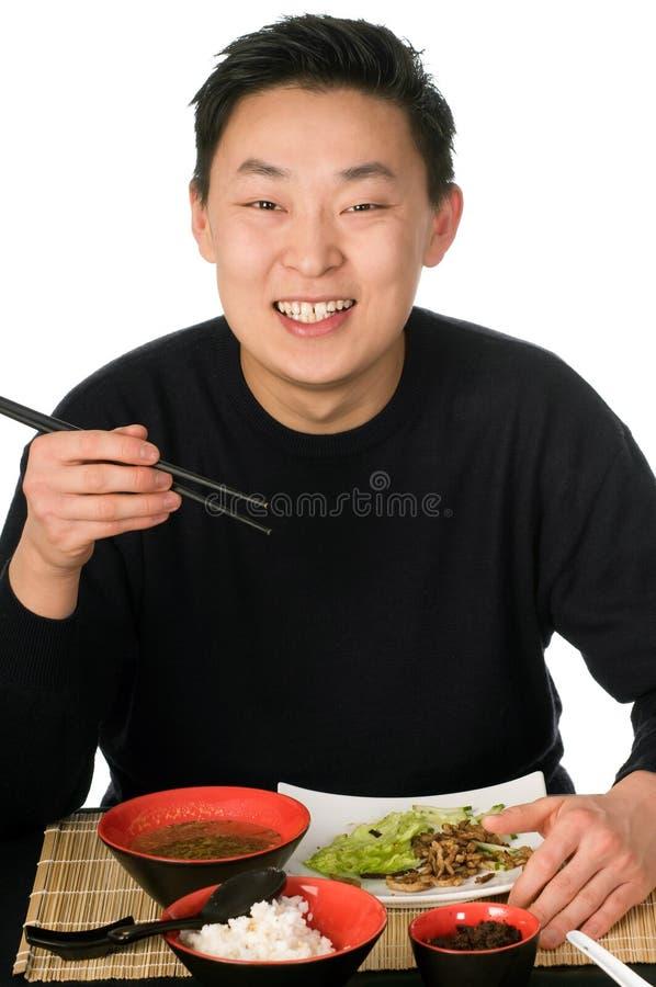 azjatykci jedzenie. zdjęcia royalty free