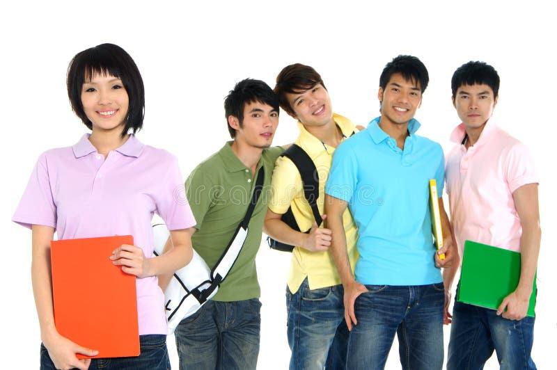azjatykci młodych studentów obraz royalty free
