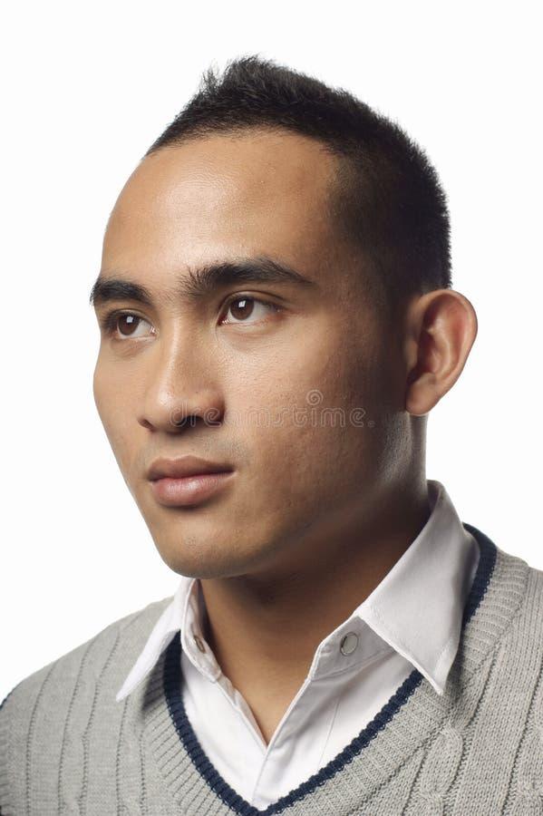azjatykci malay mężczyzna portret poważny obraz stock