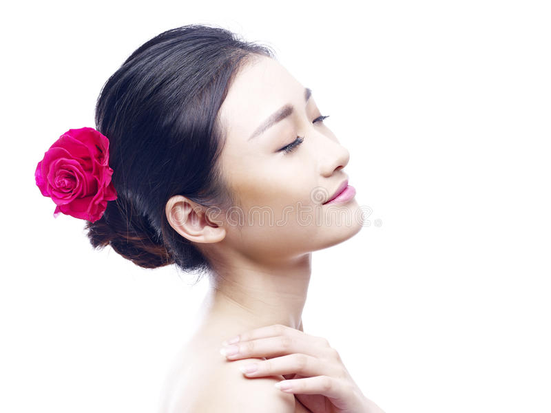 azjatykci portret kobiety young obraz royalty free
