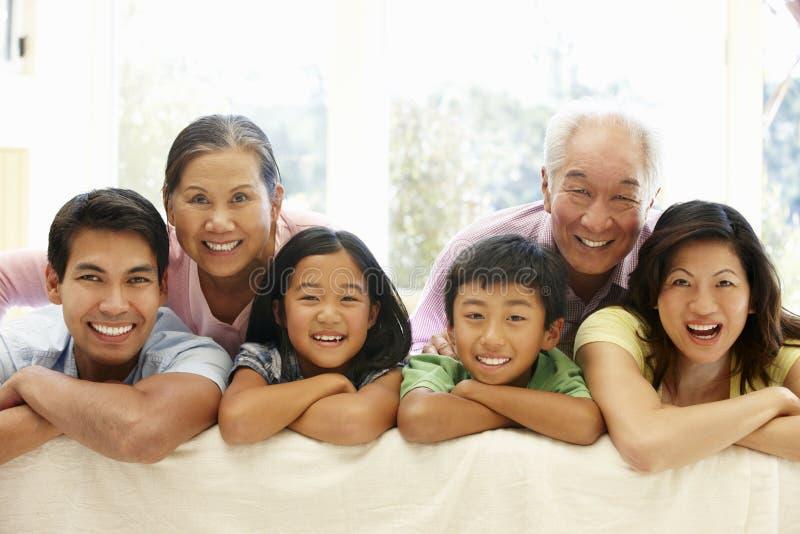 azjatykci portret rodzinny obrazy royalty free