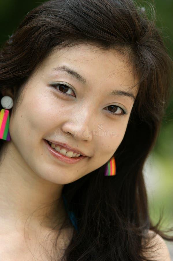 azjatykci portreta kobiety potomstwa obraz royalty free