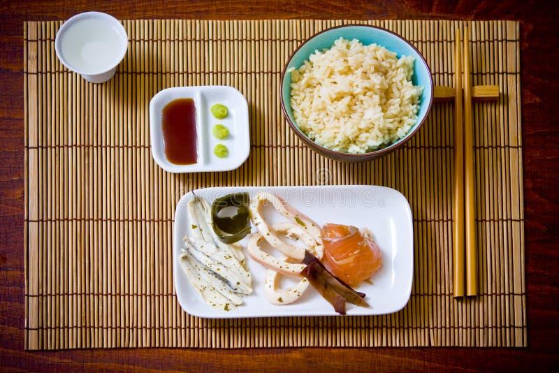 azjatykci posiłek. zdjęcie royalty free