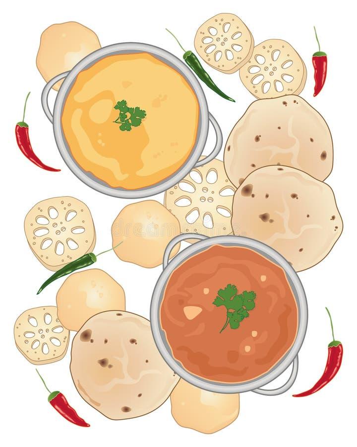azjatykci posiłek ilustracja wektor