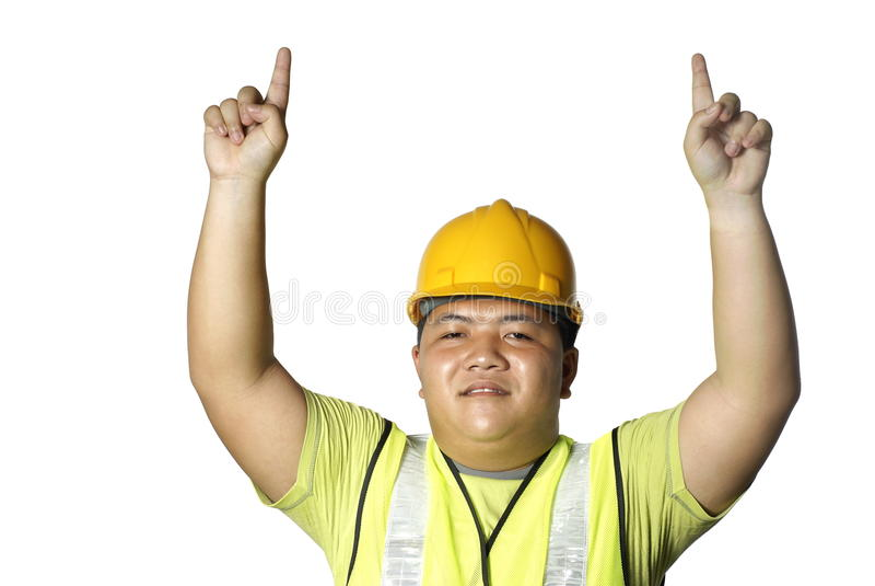 azjatykci pracownik budowlany obraz royalty free