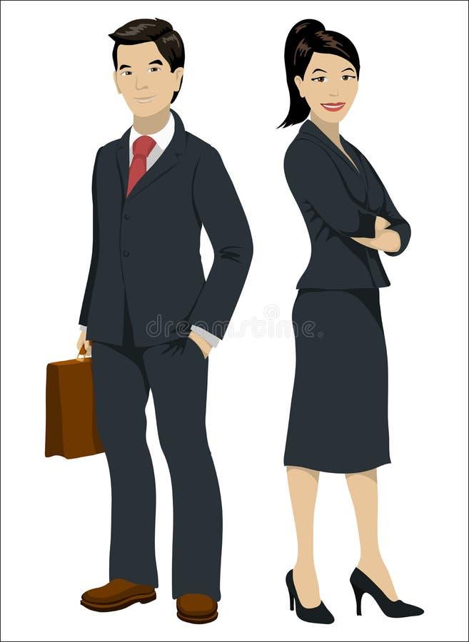 azjatykci przedsiębiorców ilustracja wektor