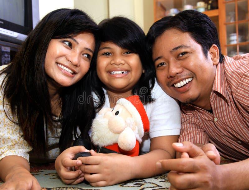 azjatykci rodzinny szczęśliwy zdjęcie royalty free