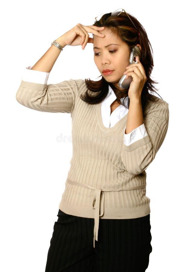 azjatykci stres bizneswomanu obraz stock