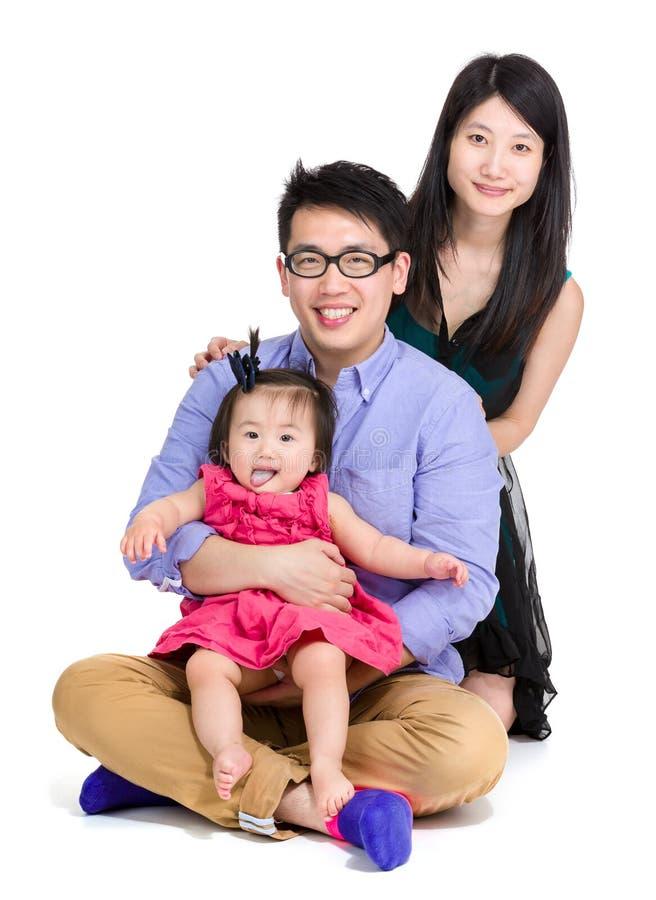 azjatykci szczęśliwa rodzina zdjęcia stock