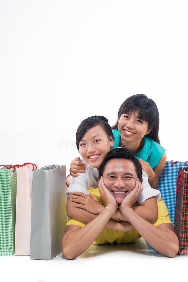 azjatykci szczęśliwa rodzina zdjęcie royalty free