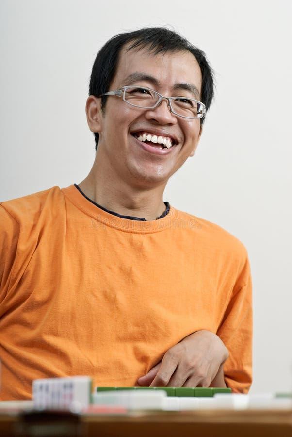 azjatykci szczęśliwy mahjong mężczyzna sztuka ja target435_0_ obraz stock