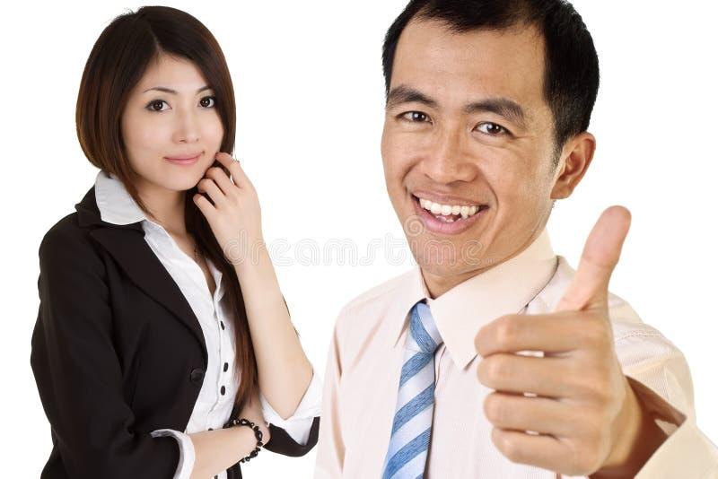 azjatykci wykonawczy pomyślny fotografia stock