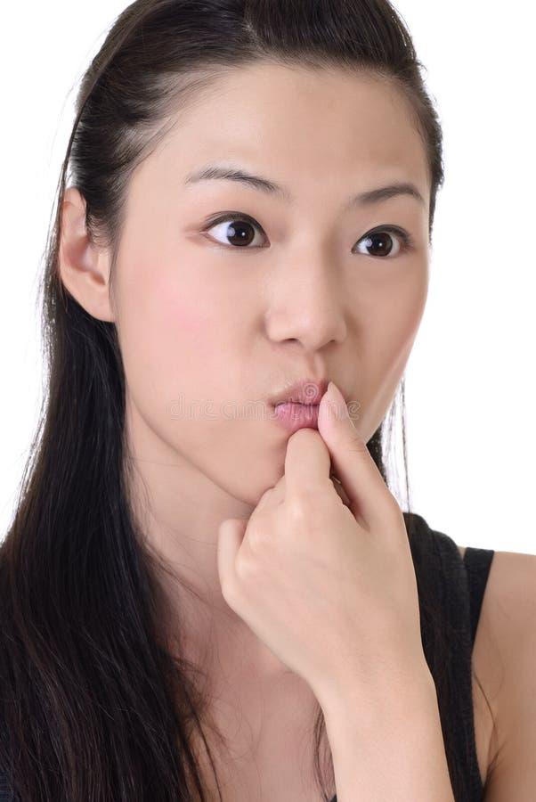 azjatykcia śliczna kobieta zdjęcia stock