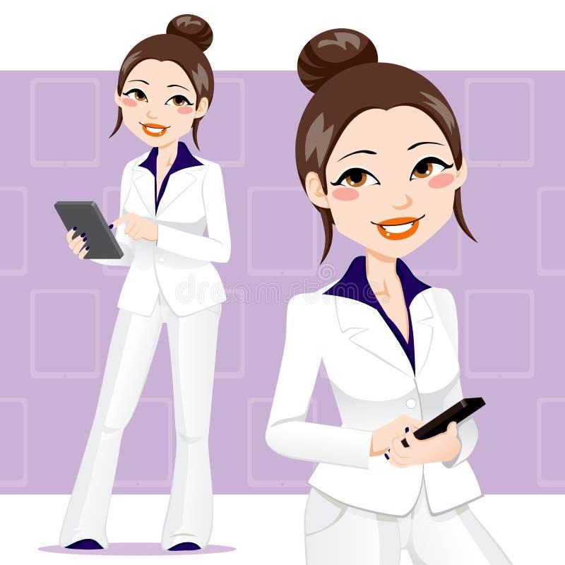 azjatykcia biznesowa kobieta royalty ilustracja